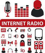 Internet radio signs — Stock Vector