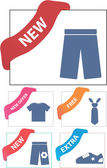 Corner clothes signs — Stock Vector