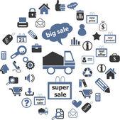 Shop web icons — Stock Vector
