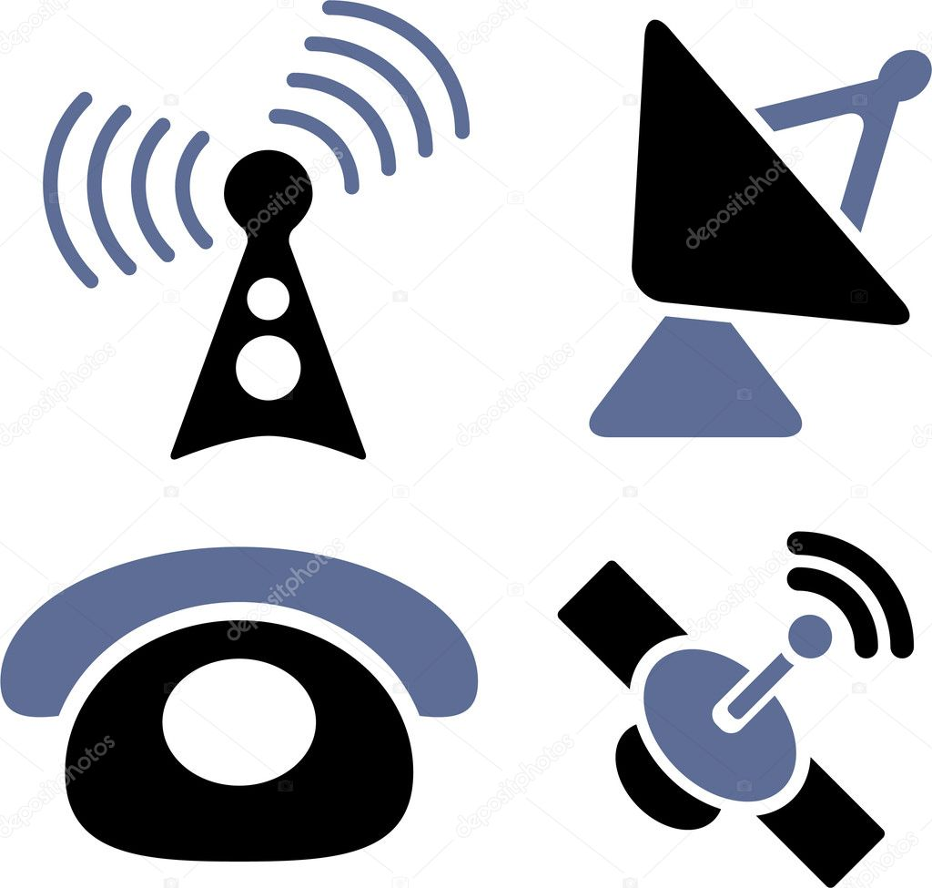 Communication web professional signs, vector — Stock Vector #5023383