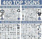 400 üst işaretleri — Stok Vektör