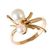 Anello d'oro con perle — Foto Stock