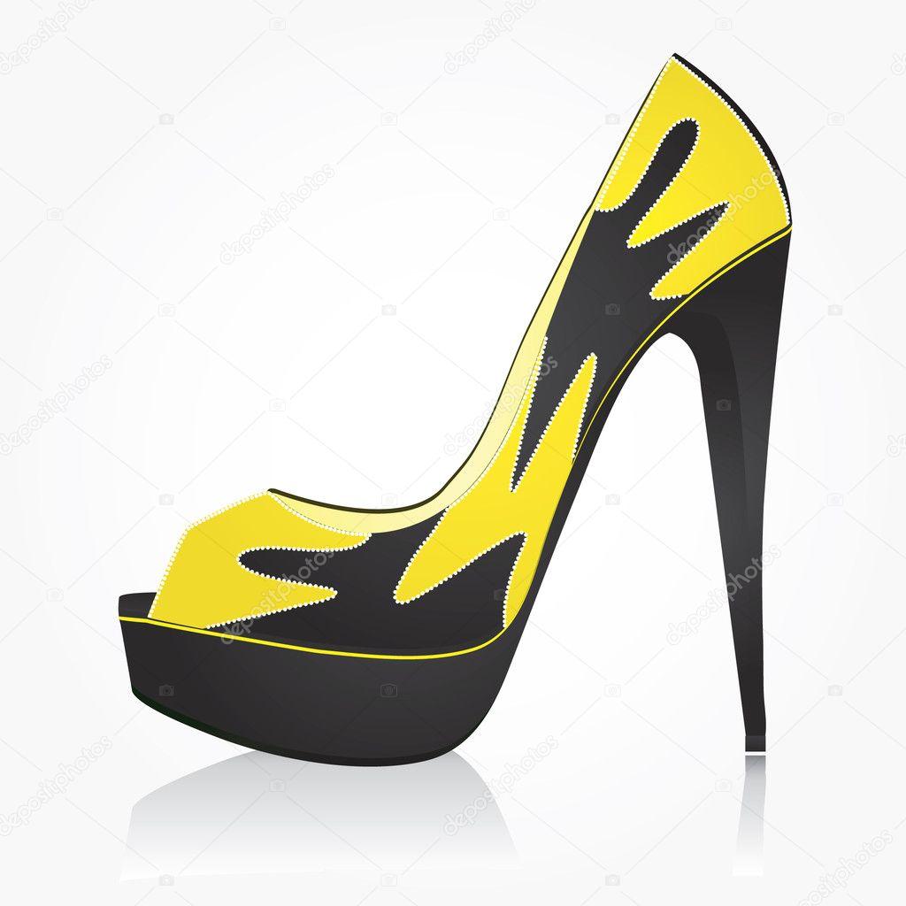 Fashion women shoe - Stock Illustration