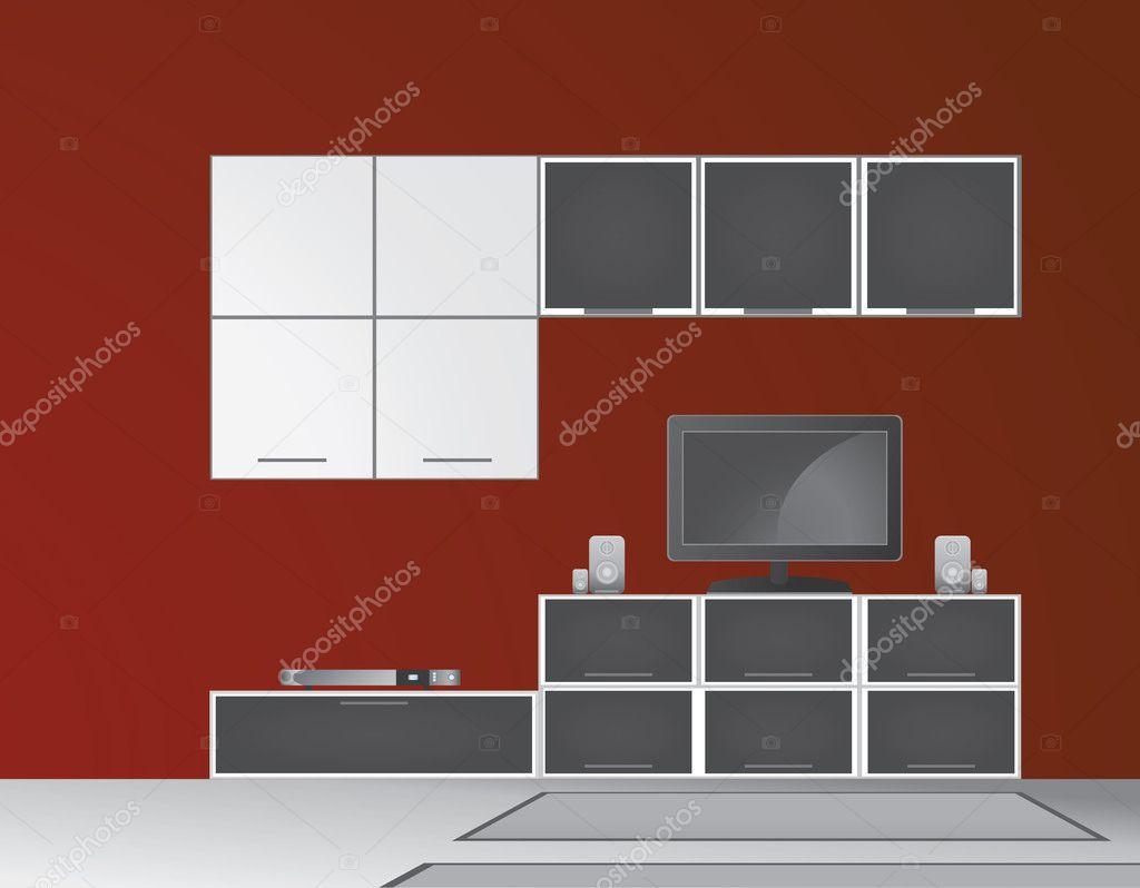 Modern Living Room Vector Stock Vector Srdjanbg 4944567