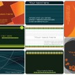 Set of colorful business cards — Imagen vectorial