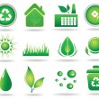 Set of ecology icons-vector illustration — Stock Vector