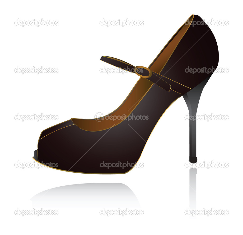 Popular High Heel Red Women Shoes On White Stock Illustration  Image