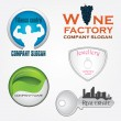 Vector icon-company design — Vettoriale Stock #4976731