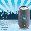 flyer de boisson énergétique — Vecteur