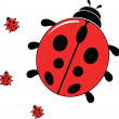 Vector illustration of a ladybug — Stock Vector