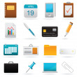 Vector set of office web elements — Stock Vector