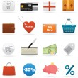 Set of shopping web elements — Stock Vector