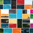 Collection of business cards — Stockvectorbeeld