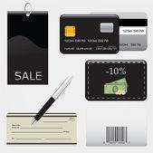Ilustración del concepto de compras — Vector de stock