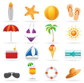 Summer and travel icon set — Stock Vector