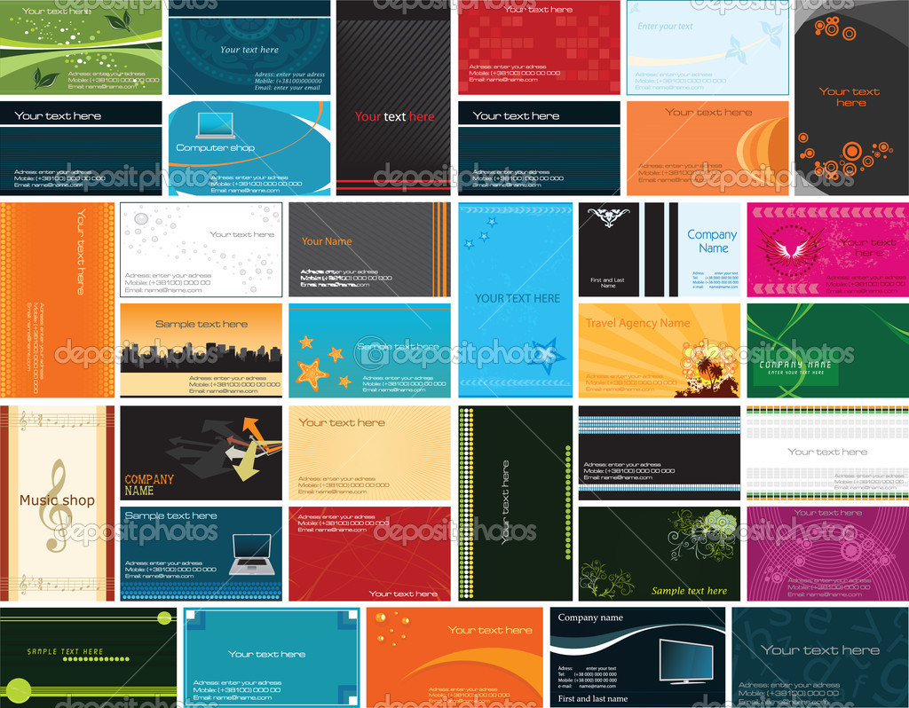 Collection of business cards stock vector c srdjanbg for Business card collection
