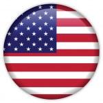 het pictogram van de vlag van Verenigde Staten van Amerika — Stockvector