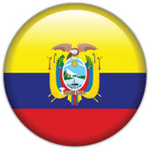 Ecuador flag icon — Stock Vector