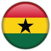 Icono de la bandera de ghana — Vector de stock