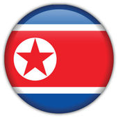 Korea North flag icon — Stockvektor