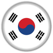 Korea Republic flag icon — Stock Vector