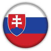 Słowacja flaga ikona — Wektor stockowy