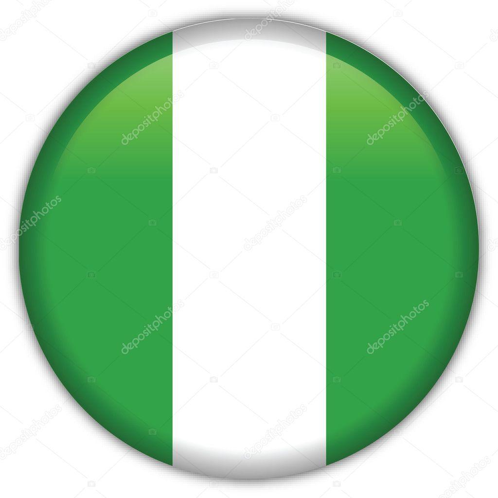 Nigeria flag icon — Stock Vector © srdjanbg
