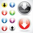 Set of web buttons for download — Stock Vector
