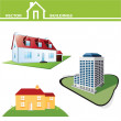 Vector real estate buildings — Stock Vector