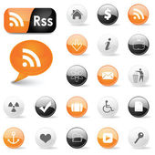 Web icons and RSS symbols — Stock Vector