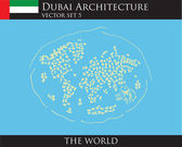 Dubai Architecture The World — Stock Vector