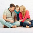 Family laughing together — Stock Photo