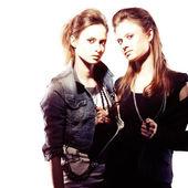 Irresistible female twins — Stock Photo
