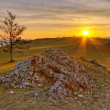 Rising sun on Baikal - Stock Photo
