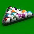Billiard spheres — Photo