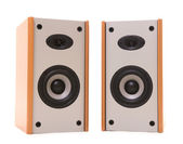 Two wooden speakers — Stock Photo