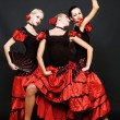 Spanish dancers — Stock Photo