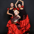 Stock Photo: Three Spanish women