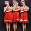 Stock Photo: Three russian beauties