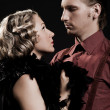 Beautiful couple in retro style - Foto de Stock  