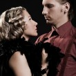 Beautiful couple in retro style - 