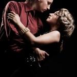 Couple in retro style dancing — Stock Photo