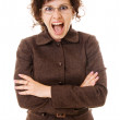 Portrait of screaming woman — Stock Photo #5157447