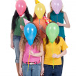 Royalty-Free Stock Photo: Funny portrait of girls with balloons