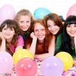 Royalty-Free Stock Photo: Happy girls with balloons