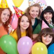 Stock Photo: Happy girls with balloons