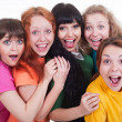 Happy screaming girls — Stock Photo