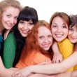 Several happy young women — Stock Photo