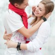 Beautiful couple embracing — Stock Photo