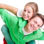 Happy playful couple — Stock Photo